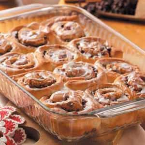 Chocolate Chip Filled Cinnamon Rolls