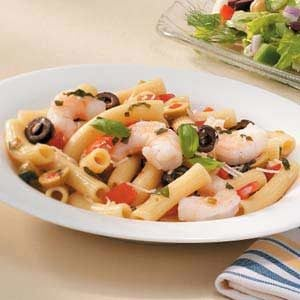 Shrimp and Olive Rigatoni