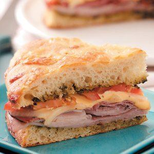 Baked Deli Focaccia Sandwich