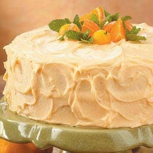Sunny Orange Layer Cake