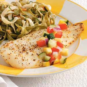 Orange Roughy with Cucumber Salsa