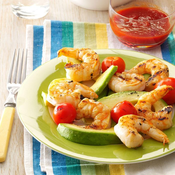 Grilled Shrimp & Tomato Salad
