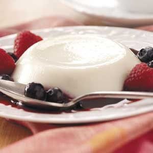 Panna Cotta with Mixed Berries