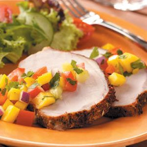 Pork Roast with Mango Salsa