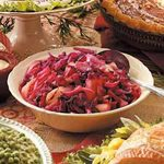 Sweet-Sour Red Cabbage Side Dish