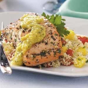 Mango Couscous with Salmon