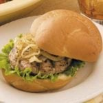 Turkey Burgers with Caramelized Onions