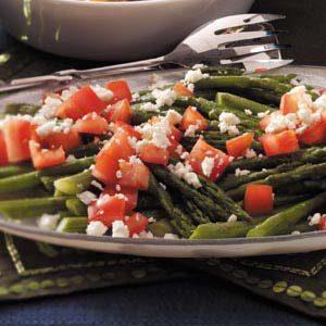 Roasted Asparagus with Feta