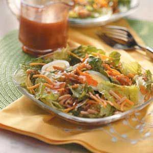 Cheddar-Almond Lettuce Salad