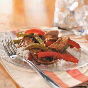 Ginger Pepper Steak Stir Fry