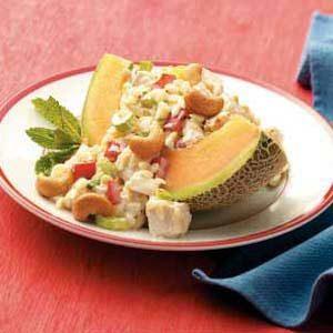 Cantaloupe Chicken-Orzo Salad