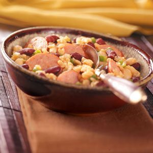 Sausage & Beans with Rice