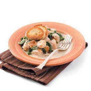 Garlic-Cream Chicken Florentine