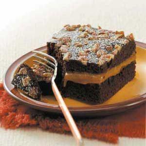 Caramel-Pecan Chocolate Cake