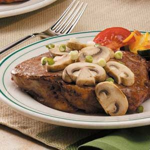 Ribeyes with Mushrooms