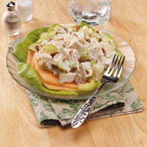 Fruity Chicken Salad with Avocado and Cantaloupe