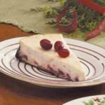 Chocolate Cranberry Cheesecake