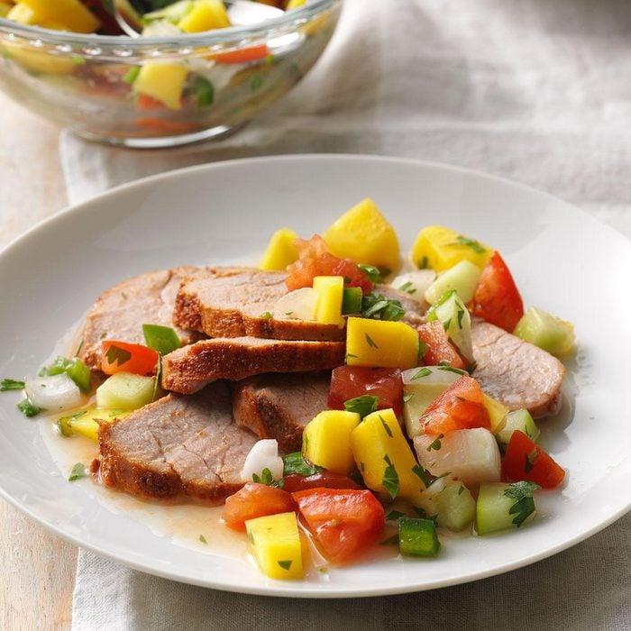 Pork Tenderloin with Mango Relish