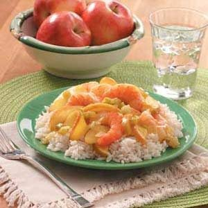 Curried Shrimp and Apples