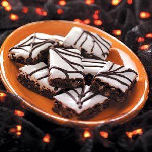 Spiderweb Brownies