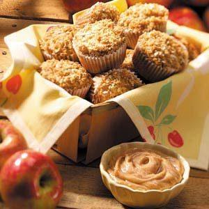 Cinnamon Apple Muffins with Cinnamon-Honey Butter