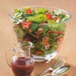 Strawberry Spinach Salad with Raspberry Poppy Seed Dressing