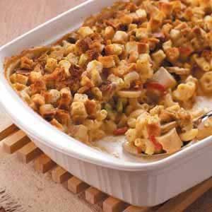 Baked Chicken Macaroni Casserole