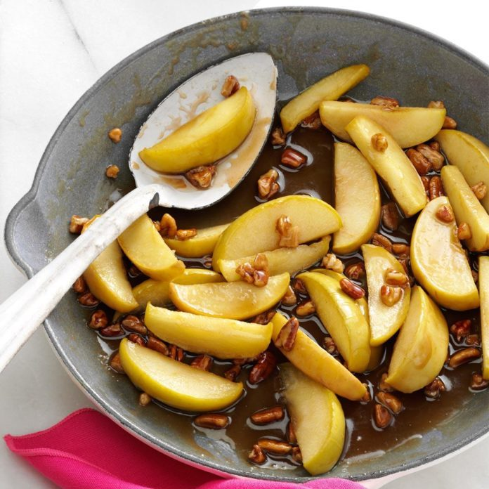 Caramel-Pecan Apple Slices