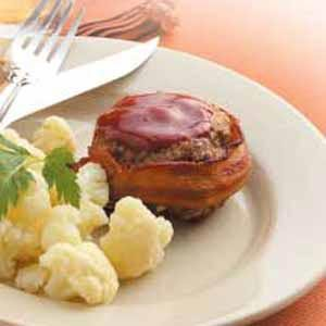 Quick Bacon-Wrapped Beef Patties