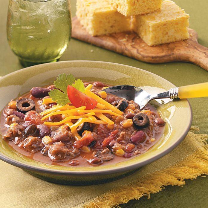 Three-Bean Taco Chili