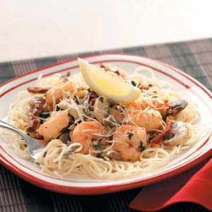 Lemony Shrimp with Pasta