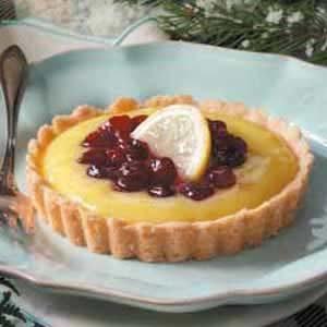 Cranberry-Topped Lemon Tarts