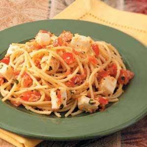 Spaghetti with Checca Sauce