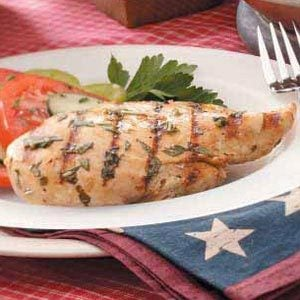 Grilled Lemon-Basil Chicken