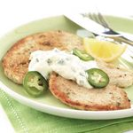 Turkey Cutlets with Cool Pepper Sauce