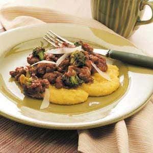 Italian Sausage with Polenta