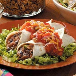 Meatless Black Bean Enchiladas