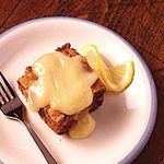 Apple Cake with Lemon Sauce