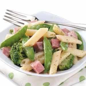 Snap Peas 'n' Ham Alfredo