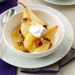 Ginger-Poached Pears