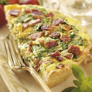 Spinach Brunch Pizza