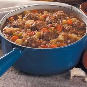 Bavarian Meatball Stew