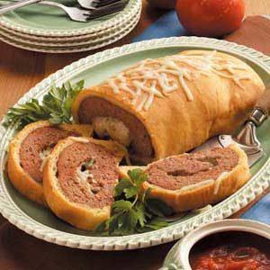 Mozzarella Meat Loaf Wellington