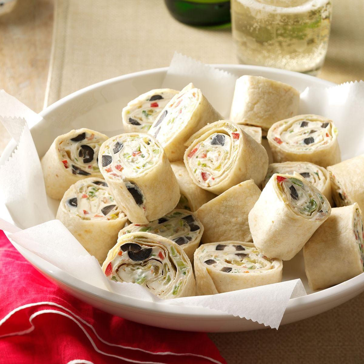 Veggie Ranch Tortilla Pinwheels Recipe Taste Of Home