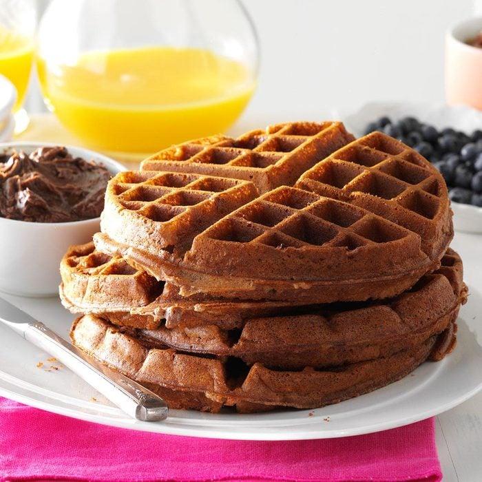 Pecan Chocolate Waffles