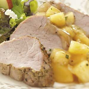 Pork with Savory Quince Compote
