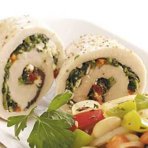 Spinach-Feta Chicken Rolls