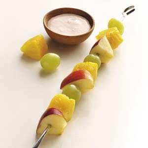 Fruit Skewers with Ginger Dip
