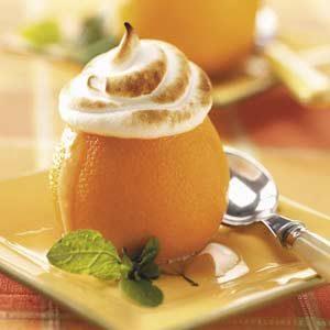 Meringue-Topped Sherbet Oranges
