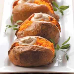 Dolloped Sweet Potatoes